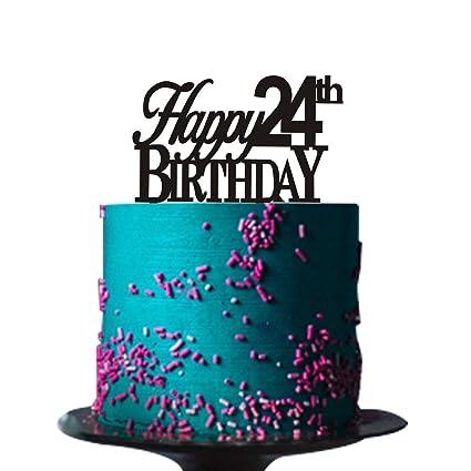 amazon com happy 24th birthday cake topper for 24th birthday cake