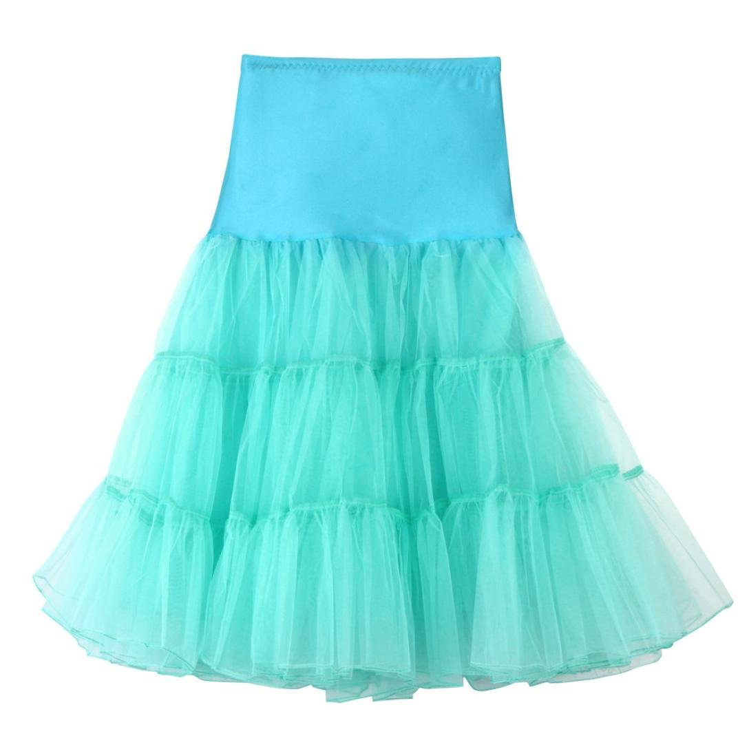 HLHN Women Tutu Midi Skirt,Ballet High Waist Pleated A Line Dancing Fashion Elegant Carnival