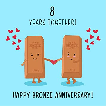 8th Wedding Anniversary.8th Wedding Anniversary Card Bronze Anniversary
