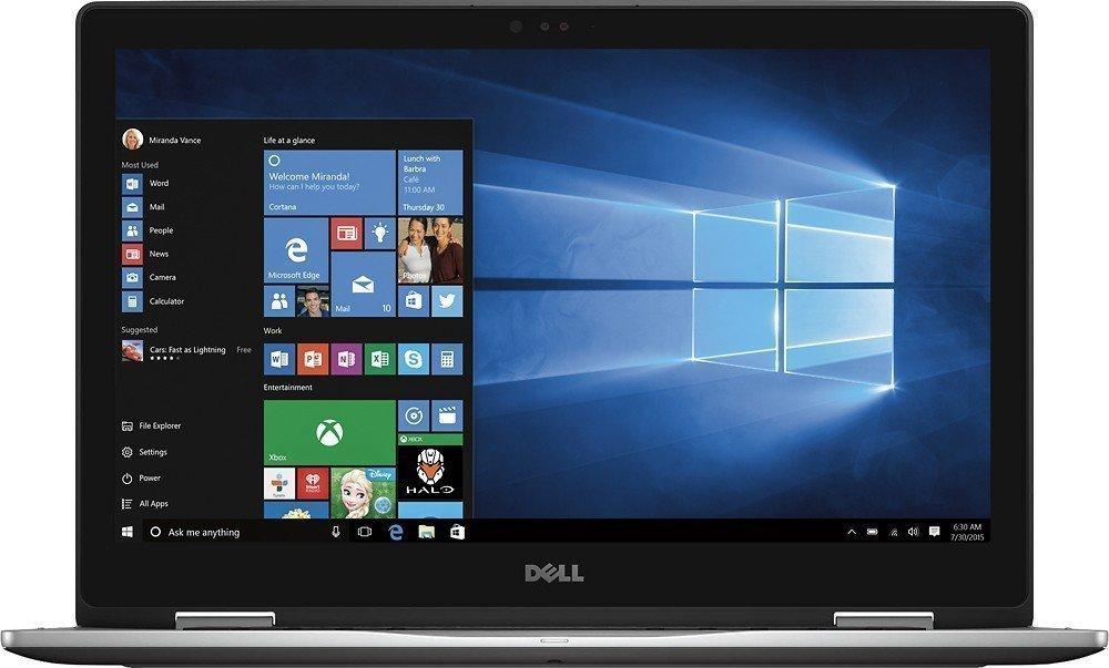 Premium Dell Inspiron 7000 15.6'' Convertible 2-in-1 FHD Touchscreen Laptop, 7th Intel Core i7-7500U Processor, 12GB RAM, 512GB SSD, Backlit Keyboard, Bluetooth, HDMI, 802.11AC, Win 10