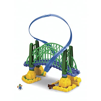 Fisher-Price GeoTrax Rail and Road System Fly-By Bridge with GeoAir Expansion Track: Toys & Games [5Bkhe0504453]