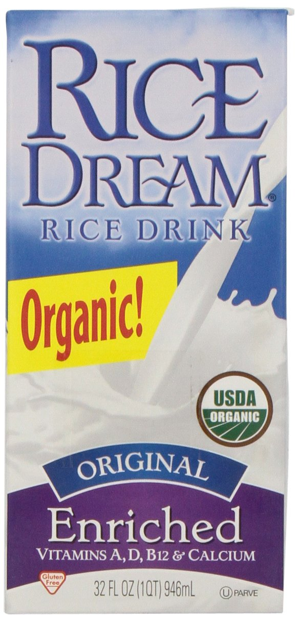 Rice Dream Organic Rice Drink, Original, 32 Ounce (Pack of 12) by Imagine
