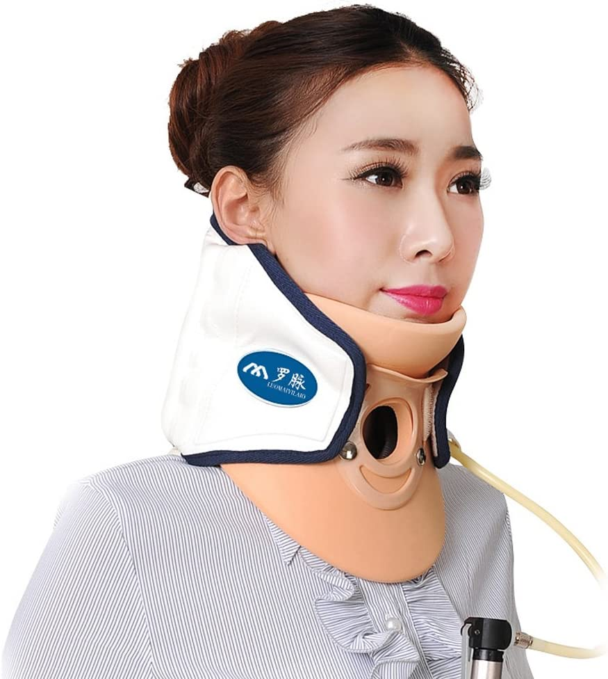 Wgwioo Medical Neck Cervical Traction Device Relief From Neck And Upper Back Pain Portable Home Use,White
