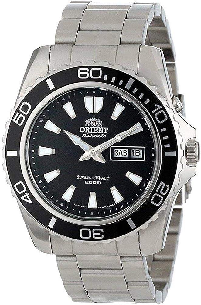 Orient Reloj Analógico para Unisex Adultos de Automático con Correa en Acero Inoxidable FEM75001B6