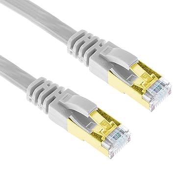 G-Shield 20m Grau LAN Kabel Cat7 Ethernet Flachkabel: Amazon.de ...