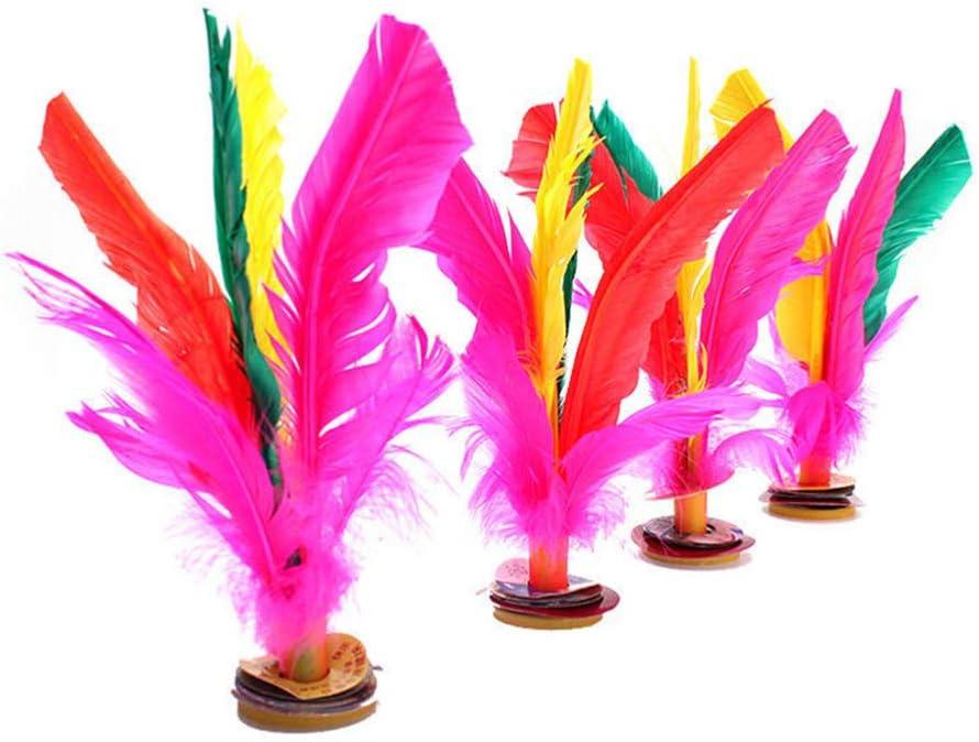 Colori Casuali NUOBESTY volano colorato Piuma Calcio Cinese jianzi calci volano volano per Sport allaperto Fitness 6 Pezzi