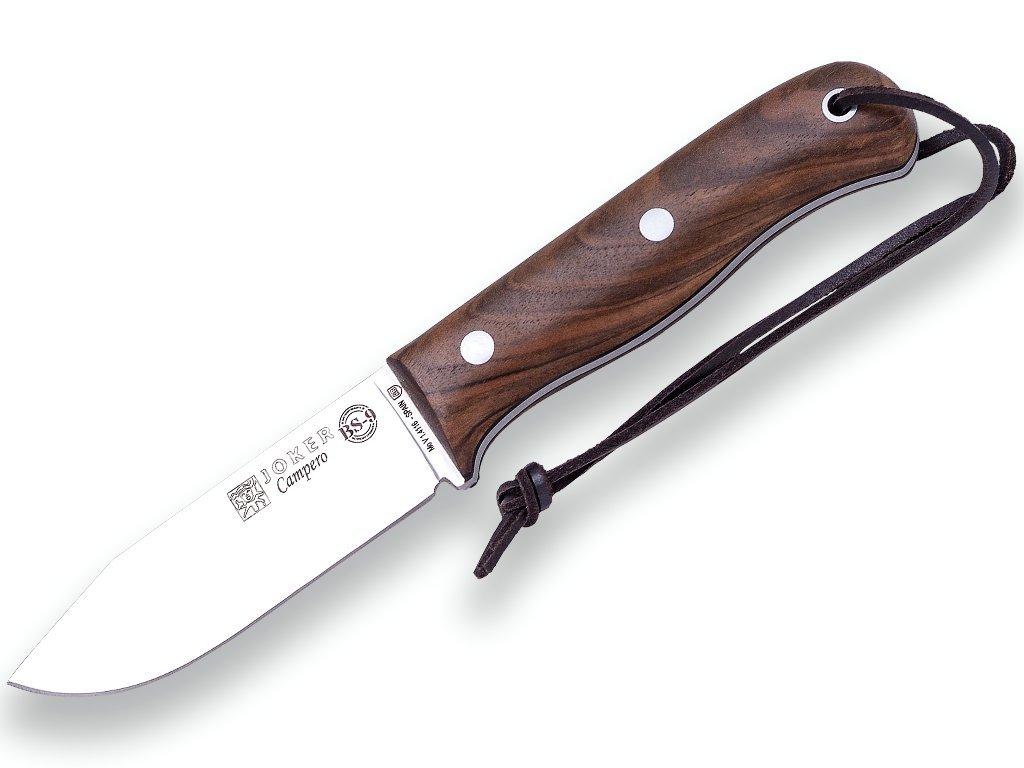 Joker CN112 - BUSHCRAFT Messer BS9 CAMPERO. Stahl MOVA 1.4116, Walnuss Holzgriff, Blech 10,5 cm. - Werkzeug für Jagd, Angeln, Überleben und Bushcraft - Hergestellt in Albacete