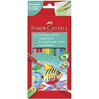 Lápis de Cor Ecolápis Aquarelável 12 Cores, Faber-Castell