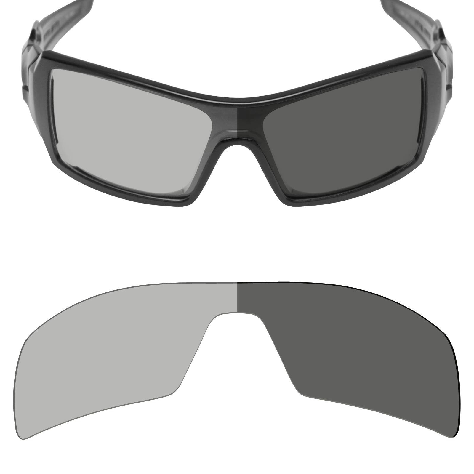 b5239cb32d62d Mryok Polarized Replacement Lenses for Oakley Oil Rig - Grey Photochromic