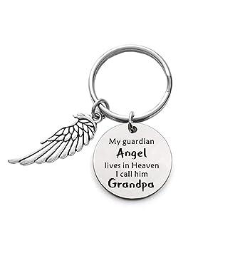 Amazon.com: Llavero conmemorativo de abuelo – Mi ángel de la ...