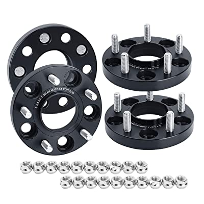 "KSP 5x4.5 Wheel Spacers for Compass Patriot 2007-2015,20mm(3/4"") Forged Hubcentric Spacer Thread Pitch 12mmx1.5 Hub bore 67.1mm fit Escape 2001-2012,Fusion 2005-2012 so on: Automotive"