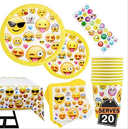 MAGRF 81 Kit de Fiesta de cumpleaños de Emoji, Que Incluye ...
