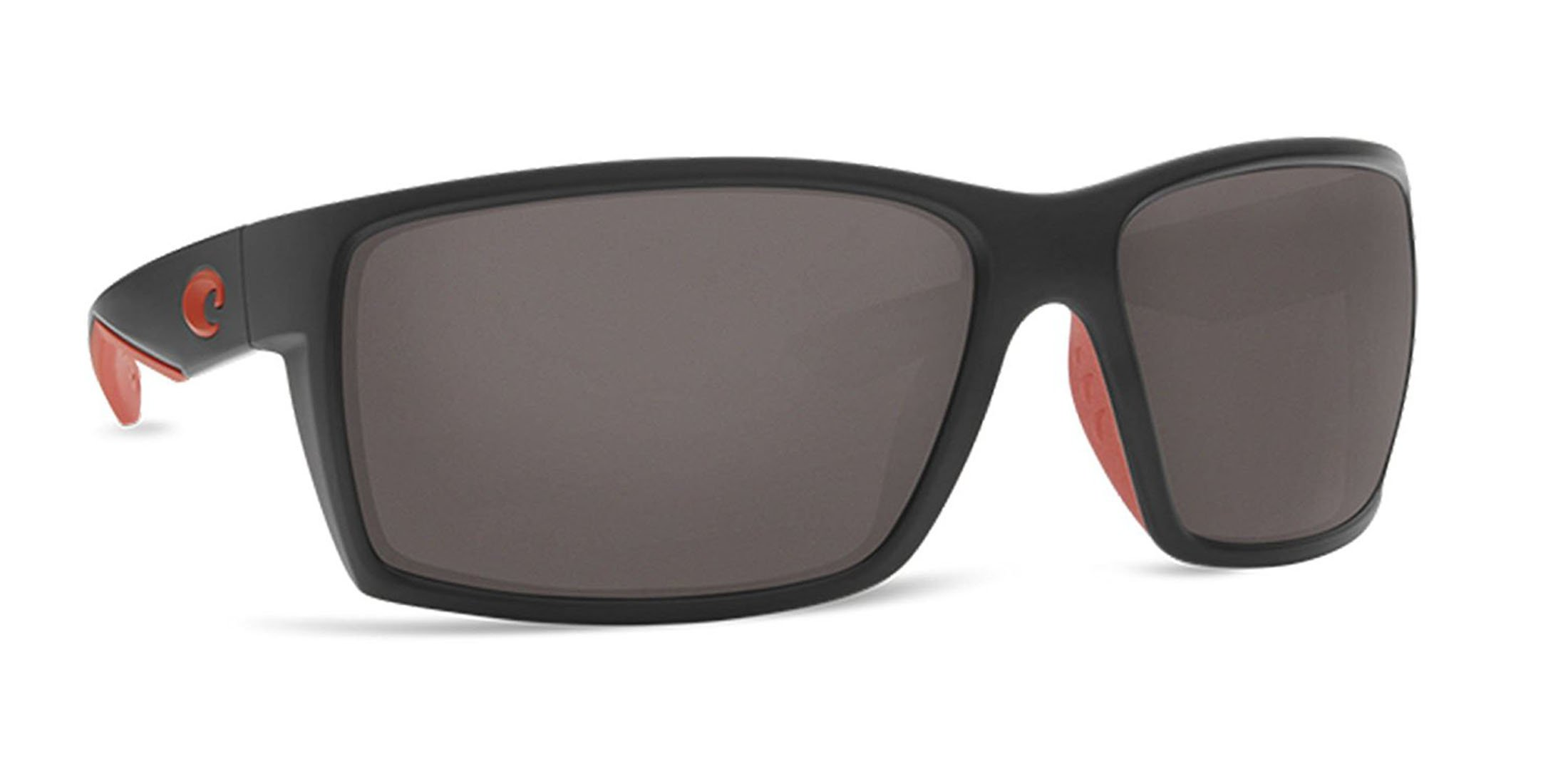 Costa Del Mar RFT197OGP Reefton Unisex Race Black Frame Grey Mirror Lens Wrap Sunglasses