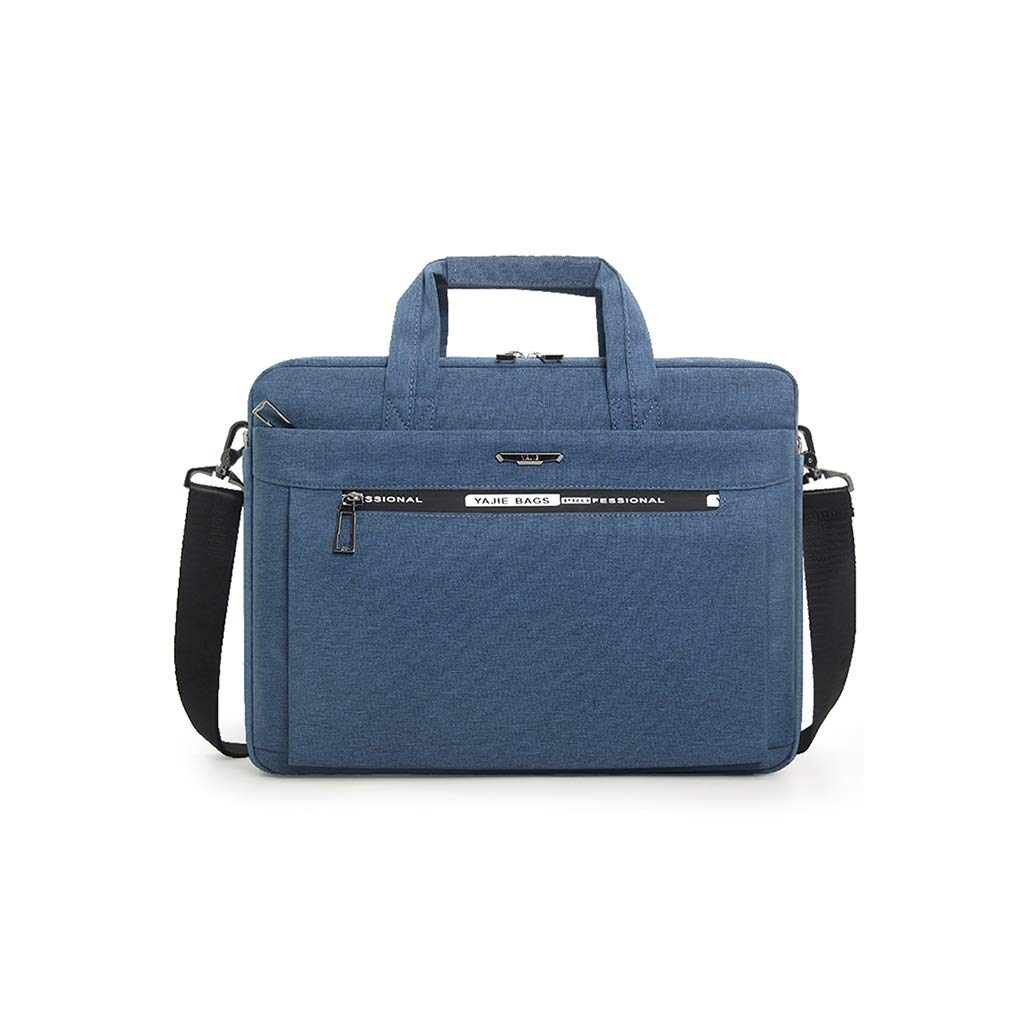 QSJY File Cabinets Laptop Sleeves 15 inch Waterproof Oxford Cloth Leisure Business Bag 39×28×7CM (Color : Blue, Size : 39×28×7CM) by QSJY File Cabinets