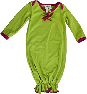 product image for Cheeky Banana Baby Christmas Gown Lime with Gift Bow