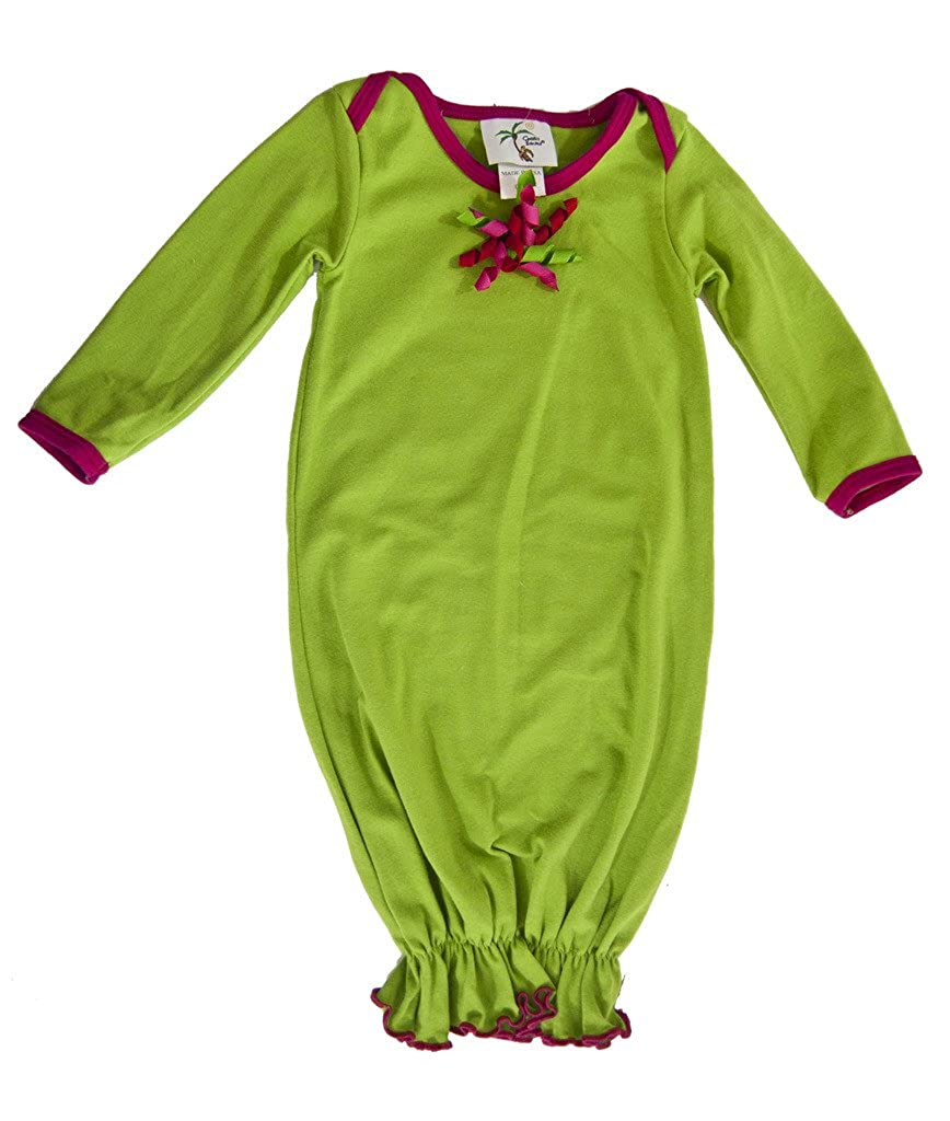 Cheeky Banana Baby Christmas Gown Lime with Gift Bow