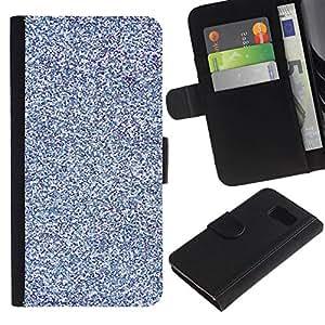 All Phone Most Case / Oferta Especial Cáscara Funda de cuero Monedero Cubierta de proteccion Caso / Wallet Case for Samsung Galaxy S6 // Blue Purple Bright Snow Winter