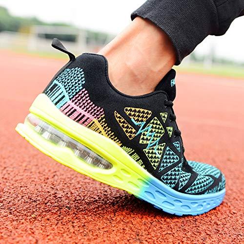 running inverno sport da MOIKA Scontate scarpe di outdoor atletici Unisex Ginnastica autunno Scarpe Verde Pattini traspiranti 65BPqA0