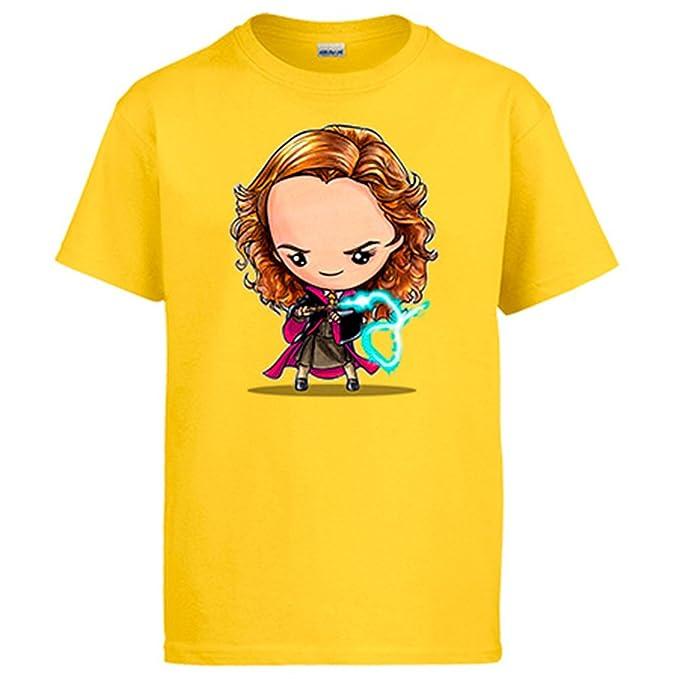 Diver Camisetas Camiseta Chibi Kawaii Harry Potter Hermione Granger Parodia: Amazon.es: Ropa y accesorios