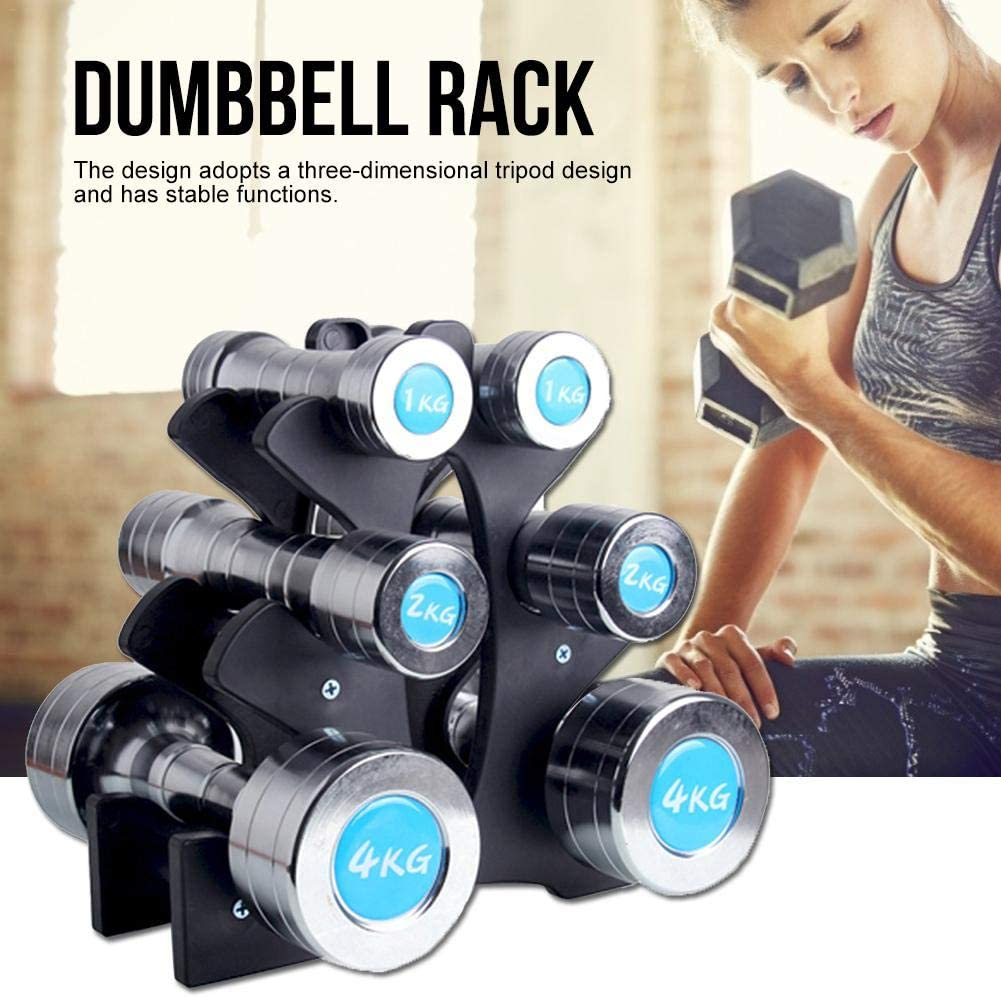 HOMÉVIA 3-Tier Vertical Dumbbell Rack, Tree Dumbbell Storage Racks, Multilevel Hand Weights Storage Holder Tower Stand for Home Gym Workout Exercise Black, Fitness Equipment Accessories : Sports & Outdoors