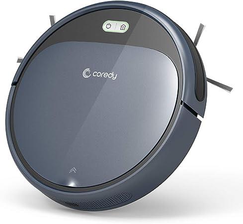 Robot aspirador Coredy R300 con estación de carga, 110 min de duración, aspirador automático, 1400 Pa, muy plano, extremadamente silencioso, para pelo de animales, suelos duros y alfombras: Amazon.es: Hogar