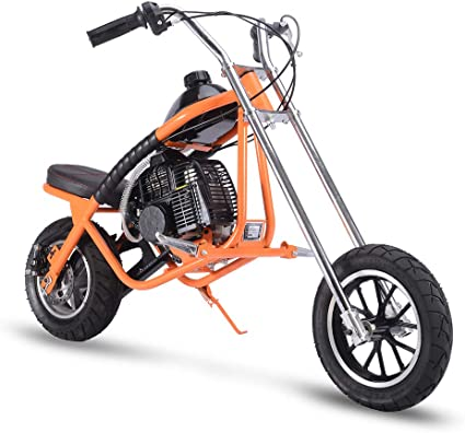 Gas Bike Mini Dirt Bike Gas Scooter Chopper for Kids 49cc 2 Stroke Powered Motorcycle EPA Approved Blue