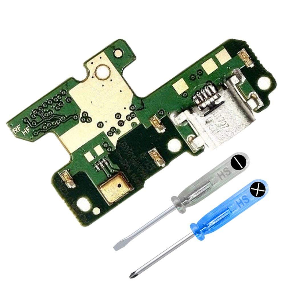 MMOBIEL Conector Dock Puerto Cargador para Huawei P8 Lite (2017) Micro USB 2.0 DE Repuesto Puerto USB, Micrófono y Altavoz Instalado Incl. 2X ...