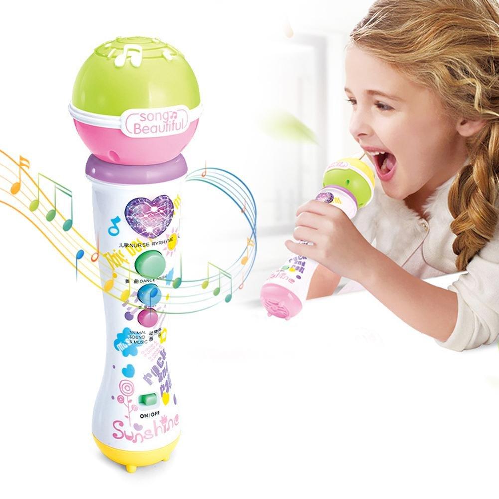 Samber Kids Music Karaoke Microphone Toys, Baby Educational Toys for Kids Toddler 3+ Years (Random Colors)/B