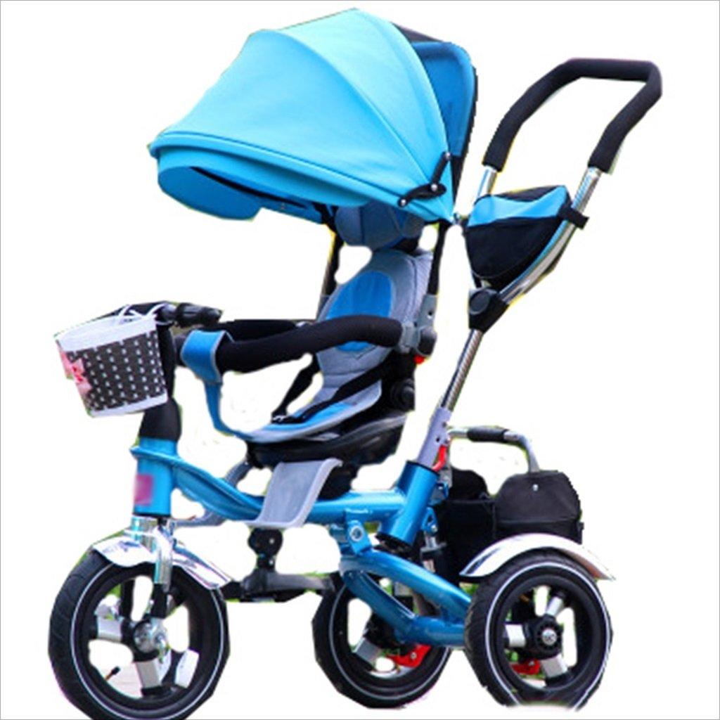 子供の屋内屋外小型三輪車自転車の男の子の自転車の自転車6ヶ月-5歳の赤ちゃんスリーホイールトロリー、ダンピング/折りたたみ/回転座席 (色 : 4) B07DVMW18S 4 4