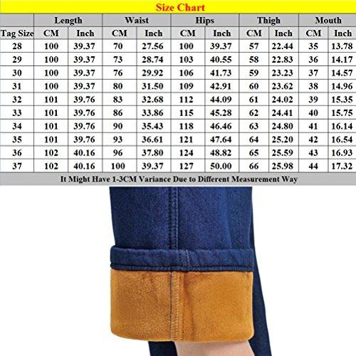 Blue Taille Trousers Autumn Elastic Grande Middle aged Haute Zhhlaixing Leisure Jean Pants Winter Pantalon Dark Waist Taille Womens Femme Cashmere dPH0wqva05