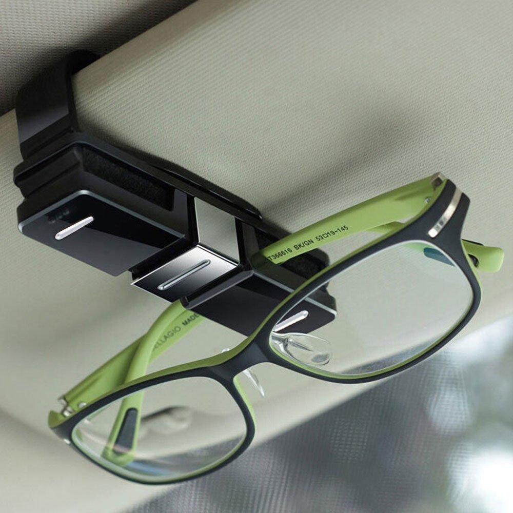 Fireangels - Supporto reggi-occhiali per auto, con clip per alette parasole e clip su entrambi i lati per occhiali di tutti i tipi