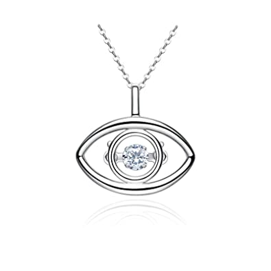 Image Unavailable. Image not available for. Color  Beydodo Womens Necklaces  Sterling Silver Eye ... 3d53b9401a