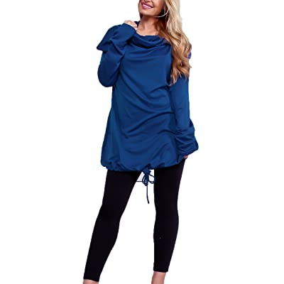 Mintsnow Women Solid Color Hoodies Long Sleeve Drawstring Sweatshirt with Pocket at Amazon Women's Clothing store