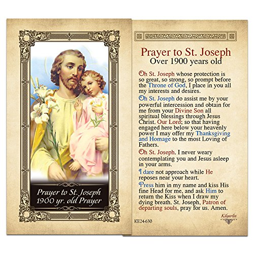 St. joseph 1900 yr. old Prayer Laminated Holy Card - Pack of 3