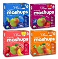 Plum Kids Organic Fruit and Veggie Mashups Bundle: Variety Pack of 4 Boxes