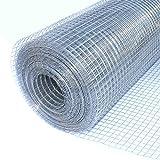 ALEKO WM24X50M1/2G19 Mesh Wire Roll Cloth 19 Gauge Steel 24 x 50 1/2″ Mesh For Sale