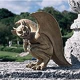 Design Toscano Legend of Cambridge Hopping Gargoyle Gothic Decor Statue, 21 Inch, Polyresin, Gothic Stone