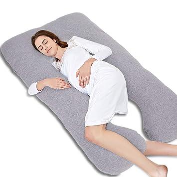 Amazon.com: Almohada de embarazo, 55 pulgadas, forma de U ...