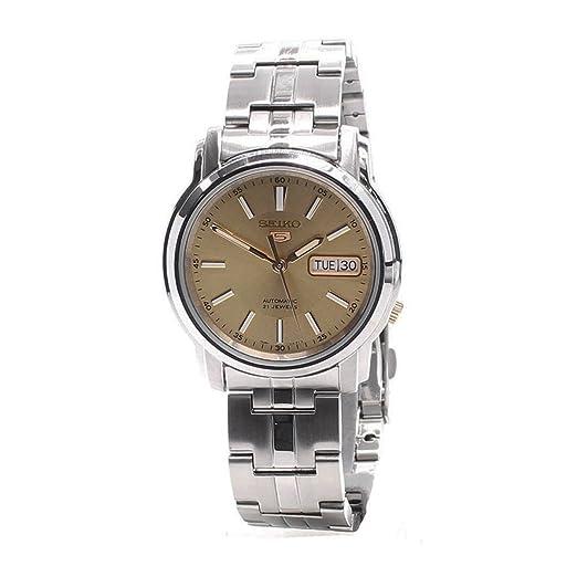 Reloj Seiko 5 Gent SNKL81K1 - Analógico Automático para Hombre en Acero inoxidable: Amazon.es: Relojes