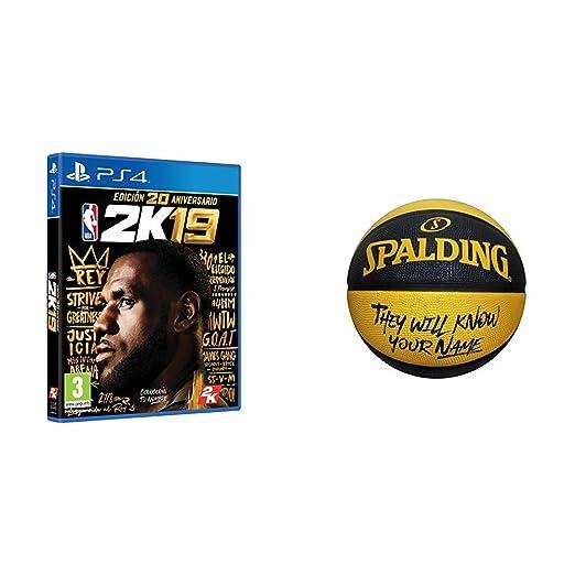 NBA 2K19 Edición 20 Aniversario + Balon Spalding: PlayStation 4 ...