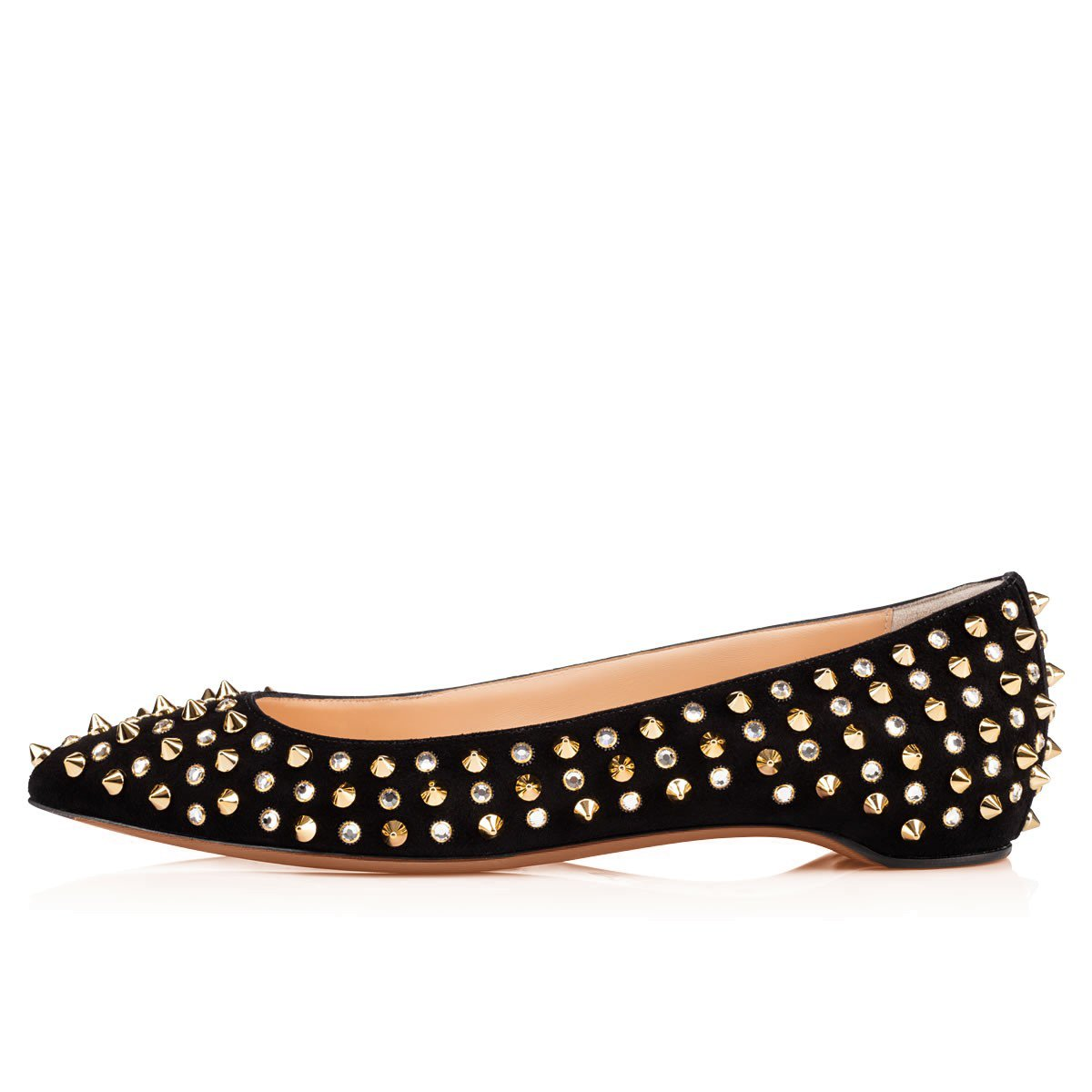 Mermaid Women's Shoes Pointed Toe Spiked Rivets Comfortable Flats B071R7VYP8 US12 Feet length 10.82