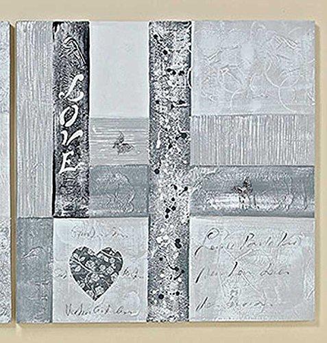 Bild Florice Holz Textil Bedruckt Grau Weiß 80 X 80 Cm Wanddeko