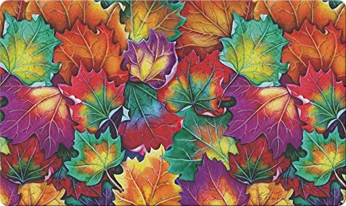 Toland Home Garden Leaf Collage 18 x 30 Decorative Colorful Floor Mat Fall Autumn Leaves Doormat 800273