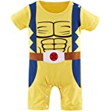 6-9 Months Wolverine-Inspired Short-Sleeve Infant Outfit