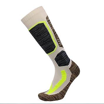 zhuotop 1 par calcetines de esquí, weimeet rodilla alta cálido Esquí Snowboard calcetines para hombres