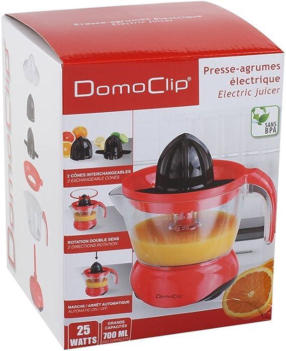 Domoclip dod131rn exprimidor eléctrico rojo/negro: Amazon.es: Hogar