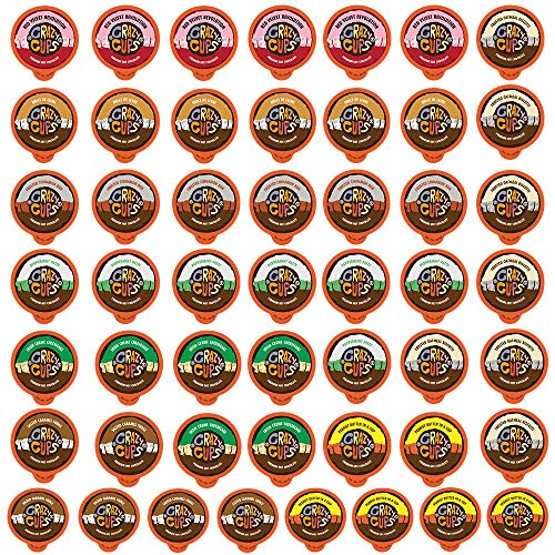 Crazy Cups Seasonal Premium Hot Chocolate Single Serve Cups for Keurig K Cup Brewers Variety Pack Sampler, 50 Count ()