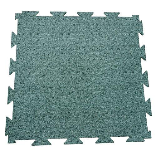 Rubber-Cal Terra-Flex Interlocking Rubber Flooring - 1/4x24x24 inch - Premium Rubber Tiles - Green