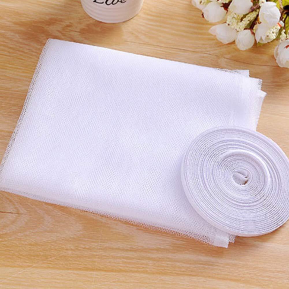 Hilai magn/étique moustiquaire pour fen/être moustiquaire avec velcro pour fen/être Protection contre les insectes Rideau pour fen/être 150x130cm