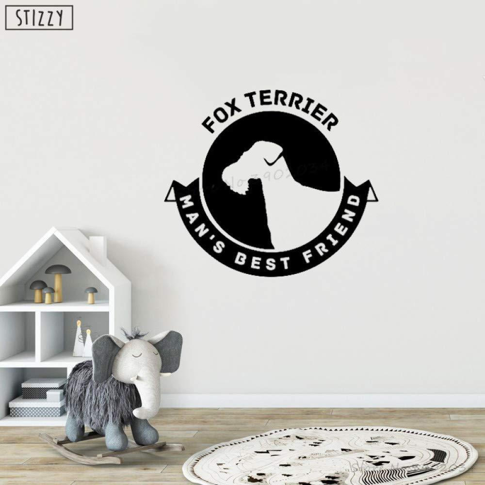 yaoxingfu Tatuajes de Pared Fox Terrier GOG Poster Ventana Arte ...